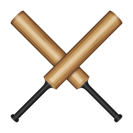 Cricket bats on a white background vector illustration.