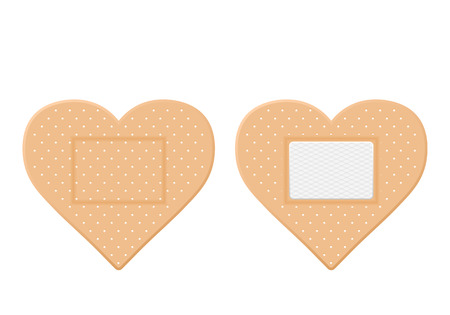 Medical plasters on a white background vector illustration. Illustration