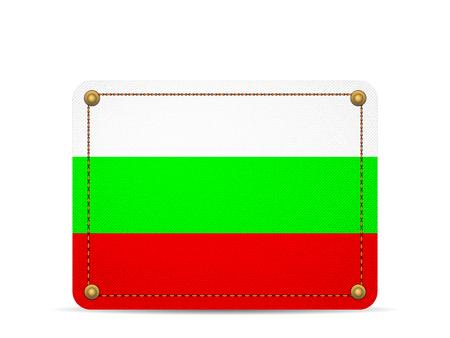 Denim Bulgaria flag on a white background.
