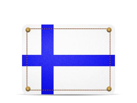 Denim Finland flag on a white background. 向量圖像