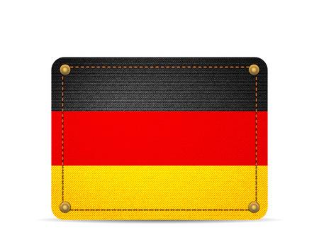 Denim Germany flag on a white background.