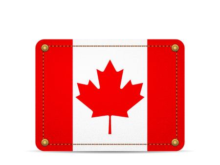 Denim Canada flag on a white background. 向量圖像