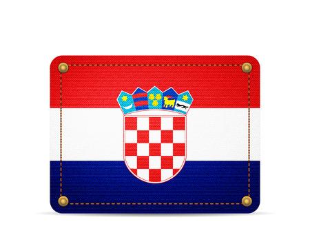 Denim Croatia flag on a white background.