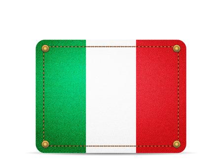 Denim Italy flag on a white background. 向量圖像
