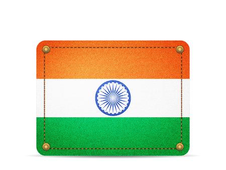 Denim India flag on a white background.