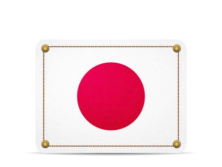 Denim Japan flag on a white background.