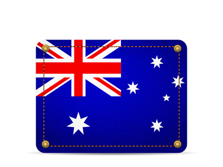 Denim Australia flag on a white background. 向量圖像