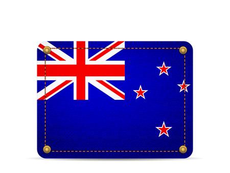 Denim New Zealand flag on a white background.