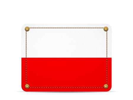 Denim Poland flag on a white background.