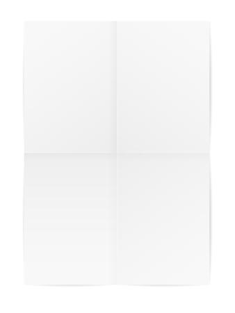 Carta piegata su uno sfondo bianco. Illustrazione vettoriale Archivio Fotografico - 96155146