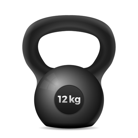 Kettle bell on a white background. Vector illustration.