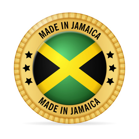 Icon made in Jamaica on a white background. Illustration
