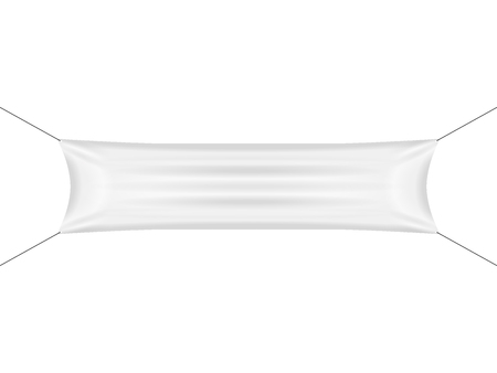 Blank banner on a white background. Vector illustration.