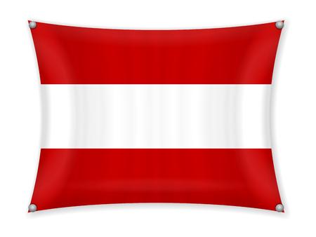 Waving Austria flag on a white background. 일러스트