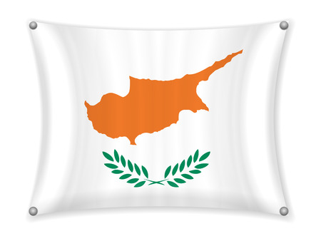 Waving Cyprus flag on a white background. Stock fotó - 101914221