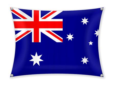 Waving Australia flag on a white background. Vectores