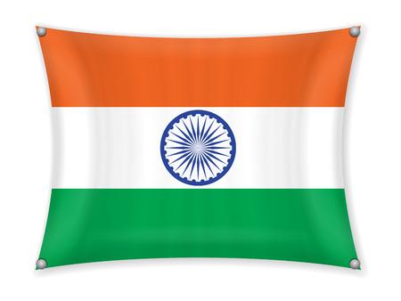 Waving India flag on a white background. Stock fotó - 101961900