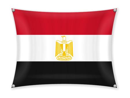 Waving Egypt flag on a white background. 일러스트