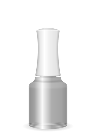 Nail polish on a white background. Vector illustration.