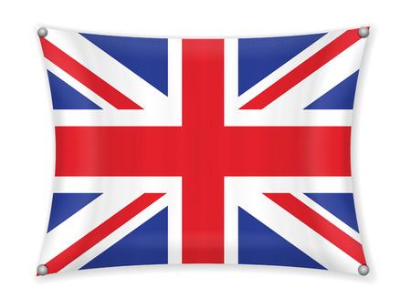 Waving UK flag on a white background. 일러스트