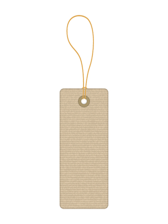 Price tag on a white background. Vector illustration.