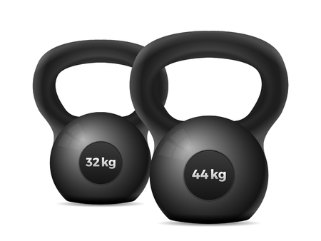 Kettle bells on a white background. Vector illustration.