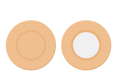 Medical plasters on a white background. Vector illustration. Stock Illustratie