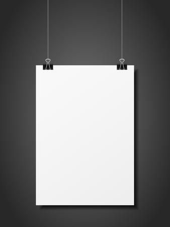 Hanging folded paper on a black background.