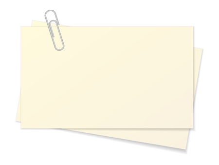 Paper sheet and paper clip on a white background. Archivio Fotografico - 114705203