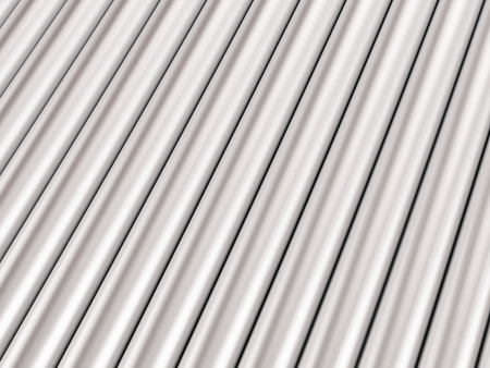 Background formed by metal pipes. 3d illustration. Stock Photo