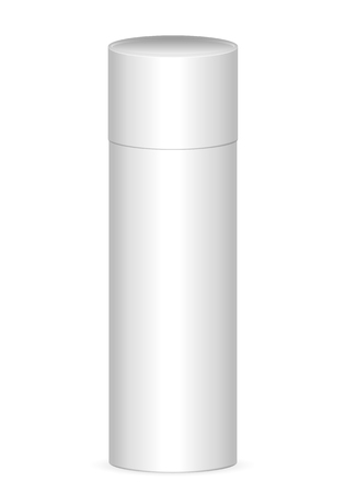 Paper tube on a white background. Vector illustration.