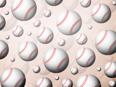 Background formed by baseball balls. Vector illustration.