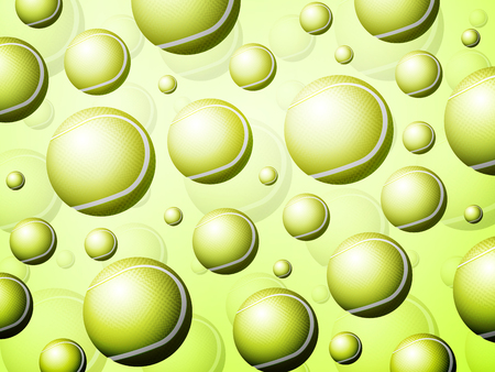 Background formed by tennis balls. Vector illustration.