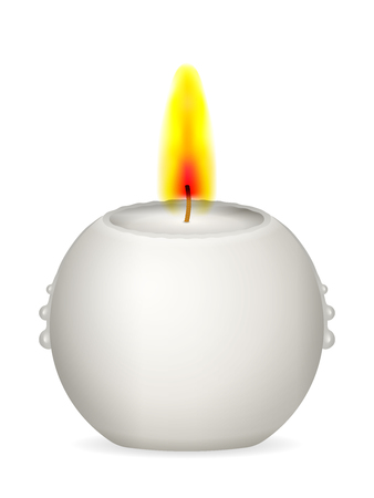 Candle on a white background. Vector illustration.