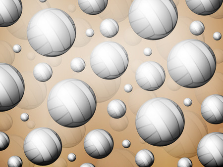 Background formed by volleyball balls. Vector illustration.
