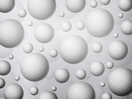 Background formed by golf balls. Vector illustration.