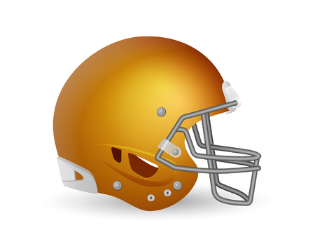 Football helmet on a white background. Vector illustration.