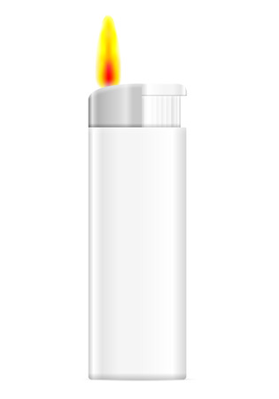 Lighter on a white background. Vector illustration. Illustration