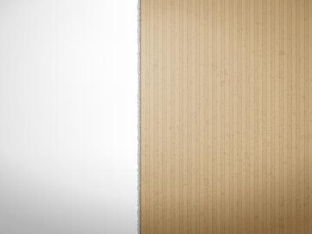Torn cardboard paper texture for background. Vector illustration.