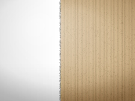 Torn cardboard paper texture for background. Vector illustration.
