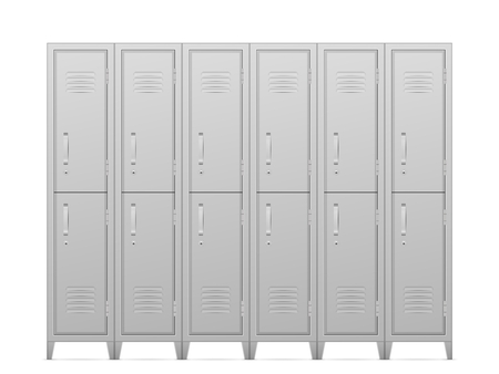 Storage lockers on a white background. Vector illustration.