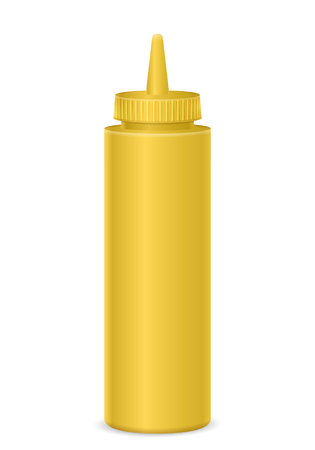 Mayonnaise bottle on a white background. Vector illustration. Фото со стока - 124991486