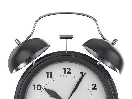 Alarm clock on a white background. 3d illustration. Stockfoto