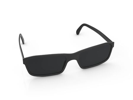 Sunglasses on a white background. 3d illustration.
