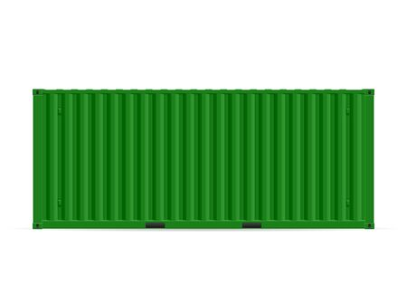 Cargo container on a white background. Vector illustration.