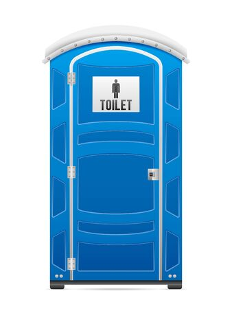 Portable restroom on a white background. Vector illustration.