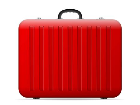 Suitcase on a white background. Vector illustration. Ilustrace