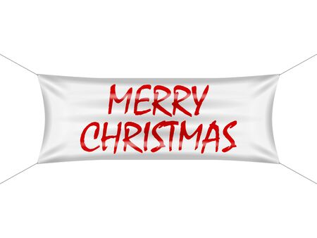 Banner merry Christmas on a white background.