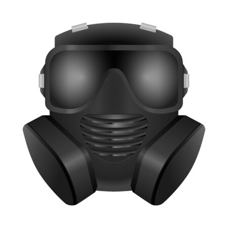 Gas mask on a white background. Vector illustration.
