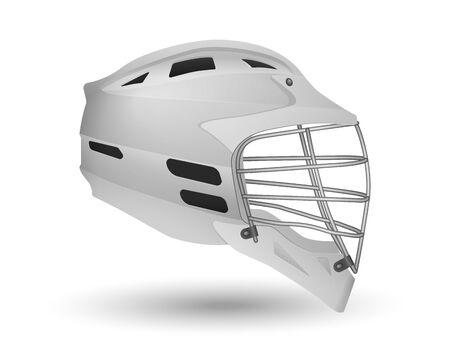 Lacrosse helmet on a white background. Vector illustration.